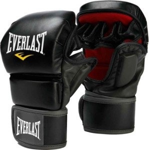 Everlast Prime Mma Boxing Gloves (L, Black, Red)