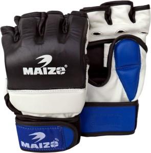 Maizo Deluxe Grappling Training MMA Boxing Gloves (M, Blue, White, Black)