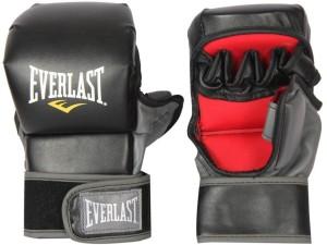 Everlast Striking Training Boxing Gloves (L, Black, Red)