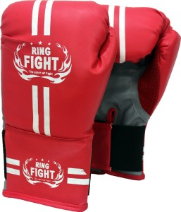 Ring Fight Star Boxing Gloves (Boys, Red)