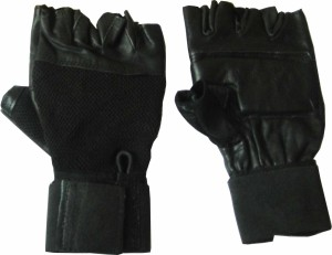 Skera Club Gym & Fitness Gloves (Men, Black)
