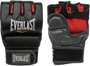 Everlast Grappling Training Boxing Gloves (S, Black, Red)
