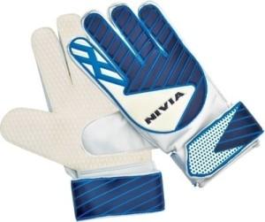 Nivia Armour Goalkeeping Gloves (White, Blue)