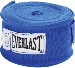 Everlast 120 inch Hand Wraps Boxing Gloves (M, Blue)