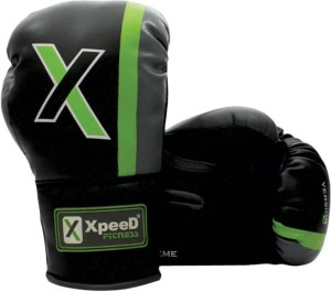 Xpeed Junior 10 oz Boxing Gloves (M, Black, Green)