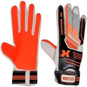 Vector X Gripflex Goalkeeping Gloves (M, White, Black, Orange)