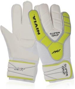 Nivia Super Grip(GG-882) Goalkeeping Gloves (L, White, Yellow)