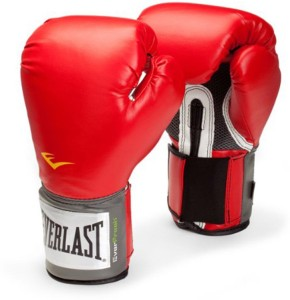 Everlast Pro Style Training Boxing Gloves (M, Red, Black)