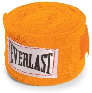 Everlast Hand Wraps For Boxing Gloves (Free Size, Orange)