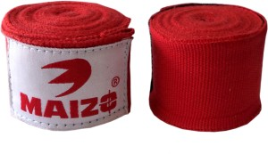 Maizo Stretchable 108 Inches Hand wraps RED Boxing Gloves (M, Red)