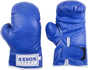 Axson PVC Leather Boxing Gloves (XL, Red, Blue)