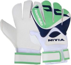 Nivia Torrido Medium GG-943 Goalkeeping Gloves (M, White)