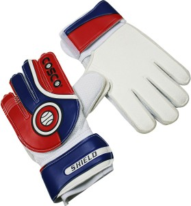 Cosco Shield Goalkeeping Gloves (L, White, Blue, Red)