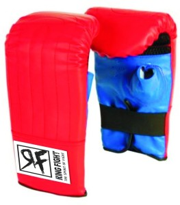 Ring Fight Punching Gloves Boxing Gloves (M, Red, Blue)