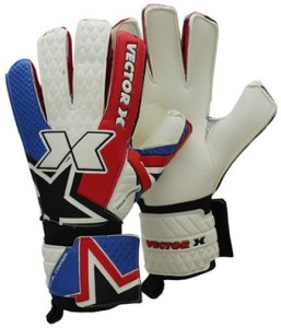 Vector X Total Control Goalkeeping Gloves (Men, White, Red, Blue)