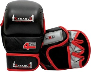 Xpeed MMA Striking With 4 Layers Palm Technology Boxing Gloves (Free Size, Black, Red)