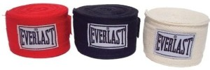 Everlast 108 inch Hand Wraps - 3 Pack Boxing Gloves (Free Size, Multicolor)