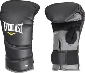 Everlast Pro Tex 2 Heavy Bag Boxing Gloves (L, Black, Grey)