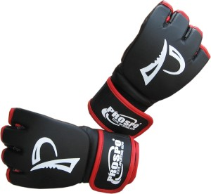 Prospo Fighting,Striking,Training MMA Grappling Martial Art Gloves (L, Black, Red)