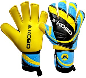 Kobo Champion Football Goal Keeper / Soccer Ball Hand Protector Goalkeeping Gloves (M, Assorted)