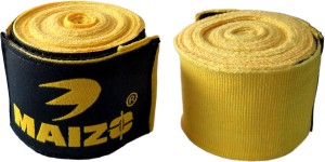 Maizo Stretchable 180 Inch Hand Wraps Yellow Boxing Gloves (L, Yellow)