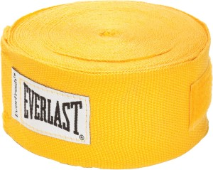Everlast 180 inch Hand Wraps Boxing Gloves (M, Yellow)