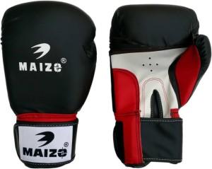 Maizo Pro Training Black Red Boxing Gloves (M, Black, Red, White)