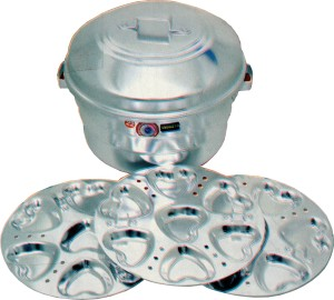 THW Heart Idly With 21 Heart Shaped Moulds Aluminium Steamer