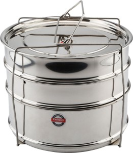 Embassy Cooker Separator Set Suitable for 6.5 Ltrs Hawkins & 5 Ltrs Prestige Popular Pressure Cookers Stainless Steel Steamer