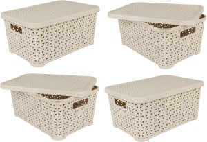 Jaypee Plus Table Basket Keep All with Lid Storage Basket