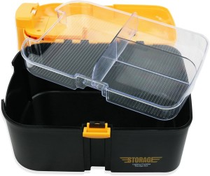 Kreativekudie Battery Operated Lighting Multifunctional Storage Box With LED Torch Tool Box Car Kit  - 4000 ml Plastic Multi-purpose Storage Container