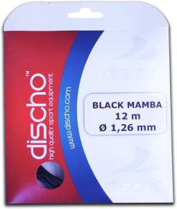 Discho Black Mamba 1.26mm - Single Set 1.26mm Tennis String - 12 m