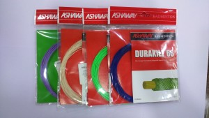 ASHAWAY DURAKILL 66 (Assorted Color pack of 4 strings) 0.66mm Badminton String - 10 m