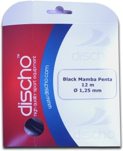 Discho Black Mamba Penta 1.25mm - Single Set 1.25mm Tennis String - 12 m