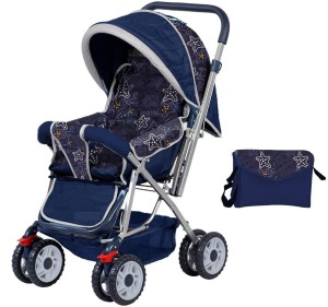 Plus One Plus One Kids Pram & Stroller with free carry bag3, Multicolor