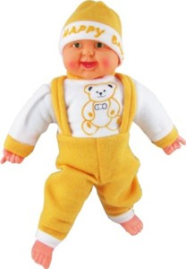 PIST Soft Toys musial-happy-laughing-baby-doll  - 40 cm