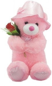 Tickles Cute Teddy with a Rose  - 27 inch