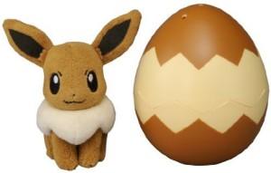 Takara Tomy Pocket Monster T02 Pokemon Eevee Egg Plush Doll