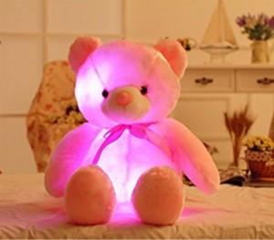 EZ Life LED Light Teddy Pillow Plush Toy - Pink  - 40 cm