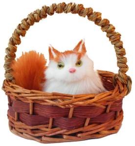 Angels Creation Basket Cat  - 12 cm