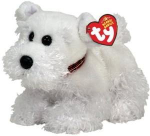 Ty Beanie Babies Farley White Scottie Dog