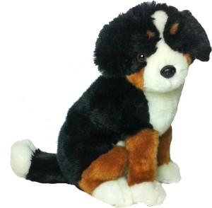 Soft Buddies Premium Dog Sitting - Black & Brown  - 11 inch
