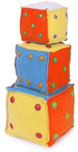 Deals India Soft Toy Cube ( Set of 3)  - 7 inch