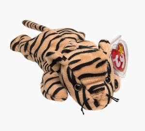 Ty Beanie Babies Stripes The Tiger