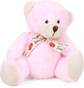 Starwalk Bear Plush Baby Pink Colour With Love You Ribbon  - 20 cm