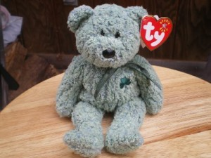 TY Beanie Babies Shamrock The St Patricks Day Bear