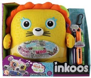 Inkoos Yellow Orange Lion Washable Plush