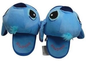 Plush Slipper L Blue Lilo Stitch Soft For Disney Doll Cartoon Collect