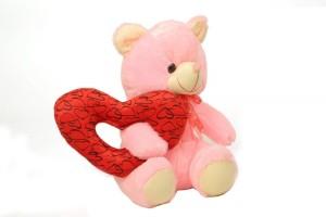 DealBindaas Valentine Stuff Toyteddy with Ring Heart  - 30 Cms