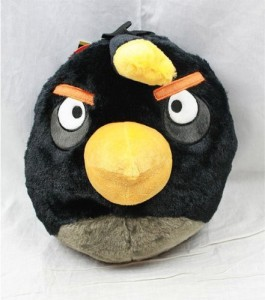 Angry Birds Black Plush Backpack